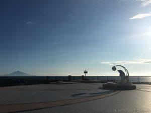 海の上に山が浮いてる!ノシャップ岬から見える利尻富士