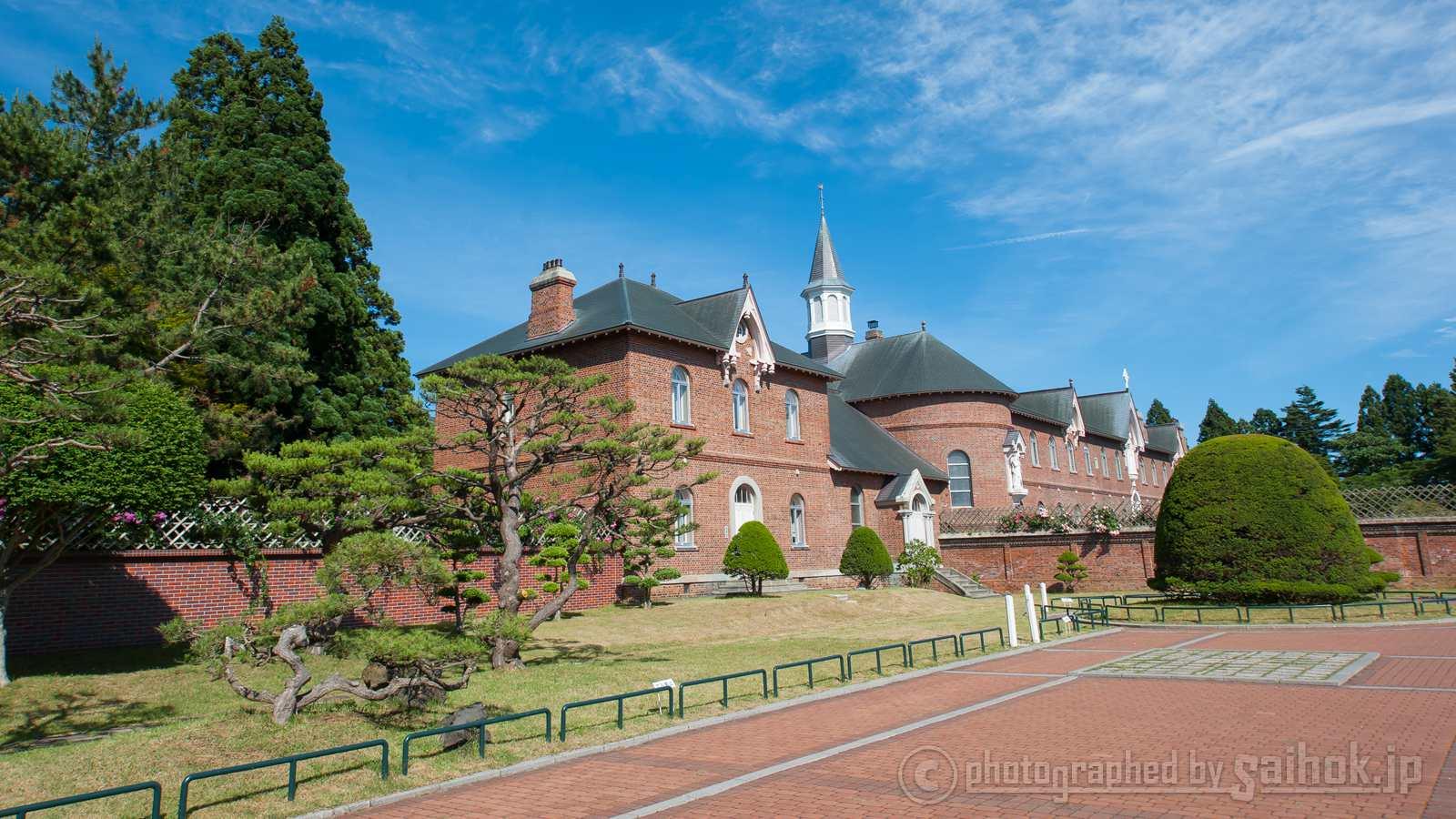 函館の美しい観光名所、トラピスチヌ修道院